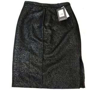 Who What Wear Size 2 Sparkle Crackle Pencil Skirt